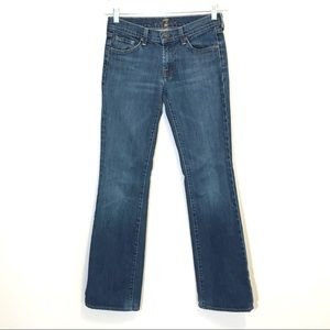 7 for all Mankind Boot Cut Medium Wash Jeans 28